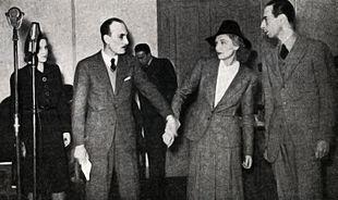 Ernesto Calindri con Luigi Cimara e Evi Maltagliati